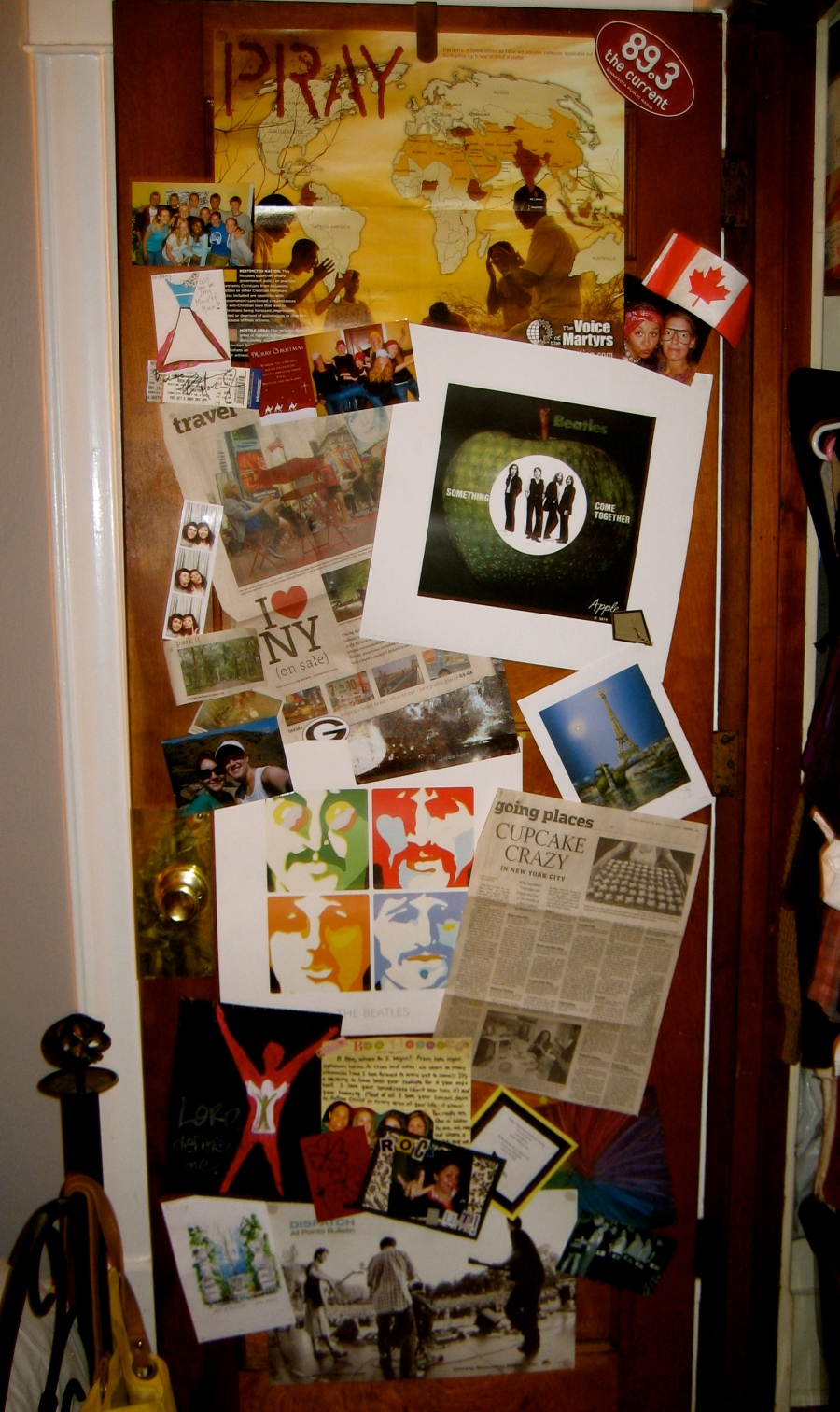 The insdie of my closet door...I had to have a collage somewhere...